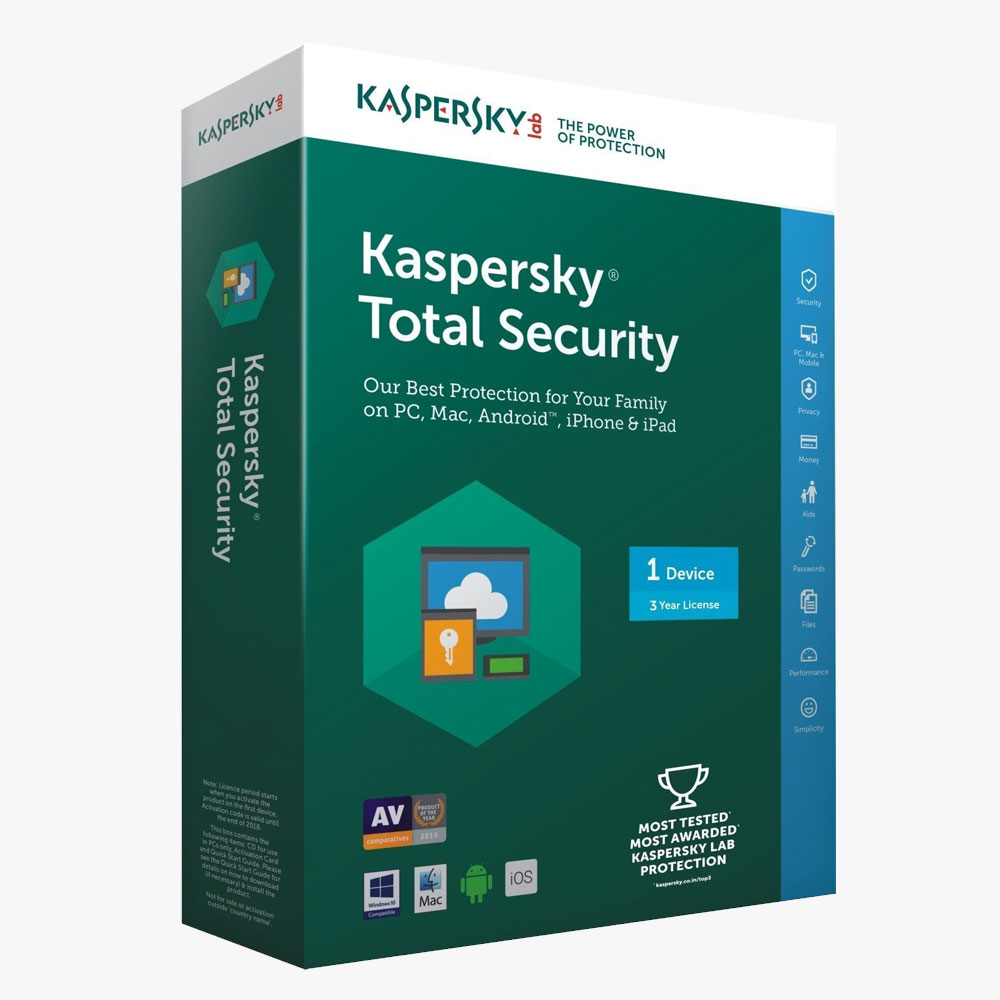 Kaspersky Total Security 2017 | 3 Device | 1 Year