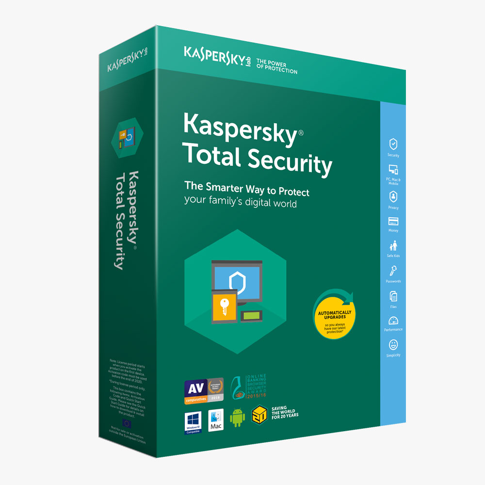 Kaspersky Total Security 2020 | 5 Devices | 1 Year