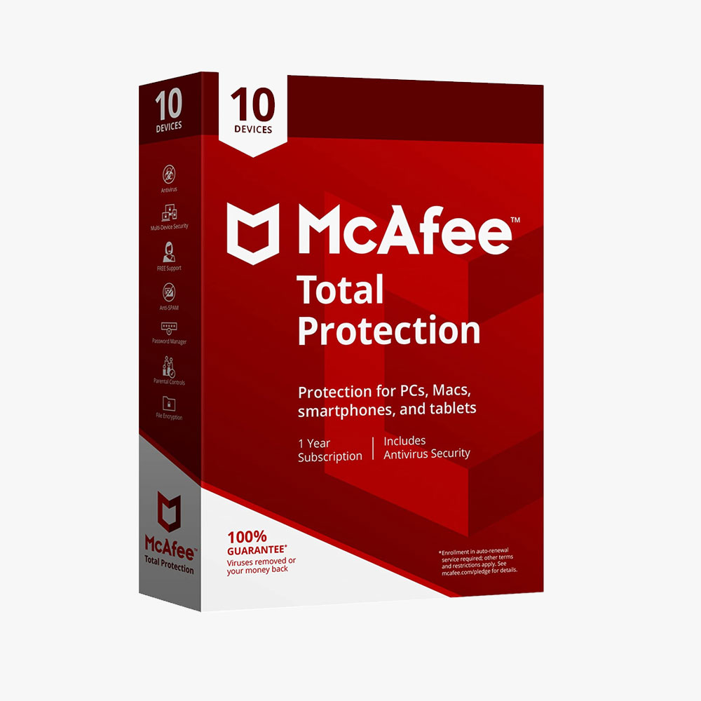 McAfee Total Protection 2020 Antivirus Internet Security Software, 10 Device