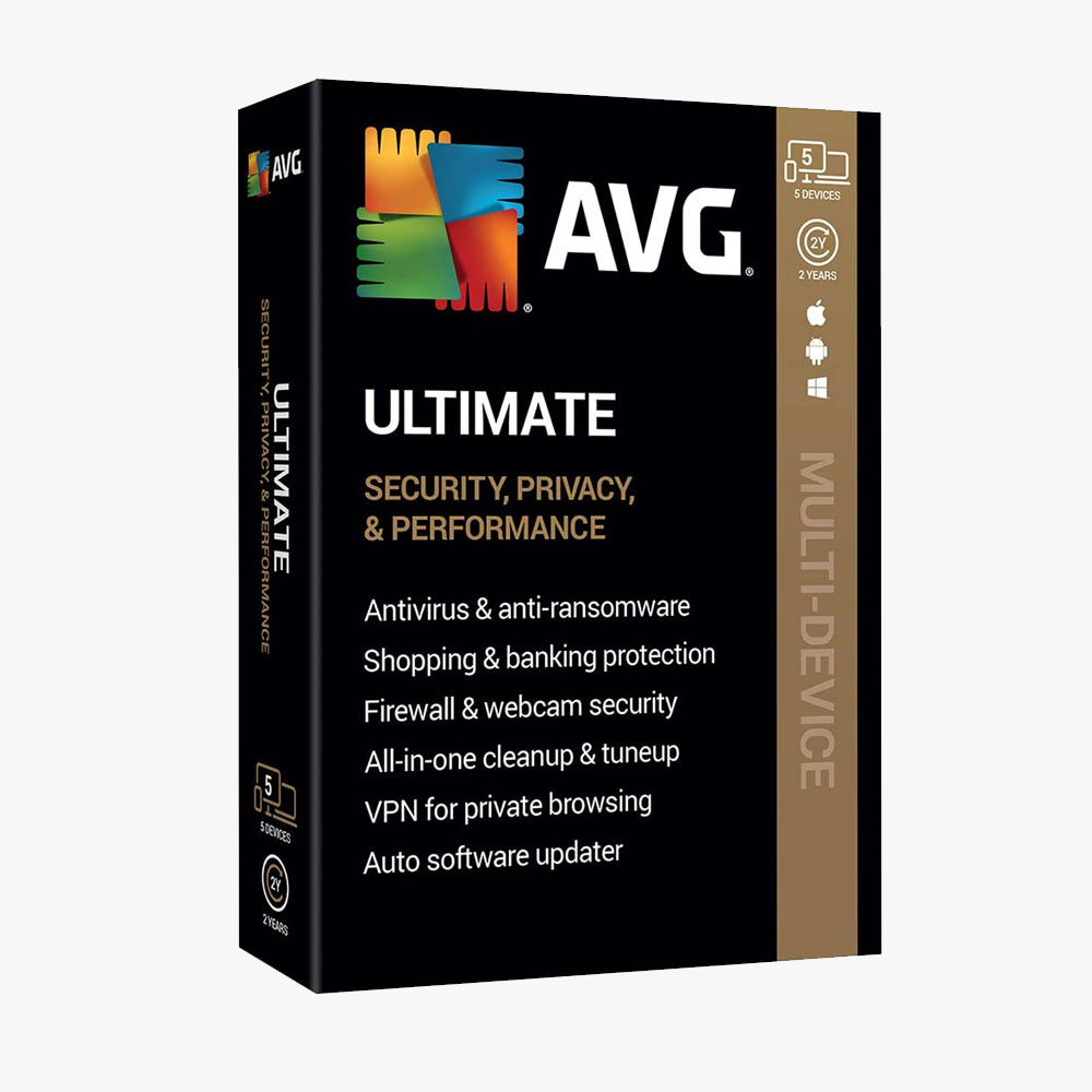 AVG Ultimate 2020, 5 Devices 2 Year