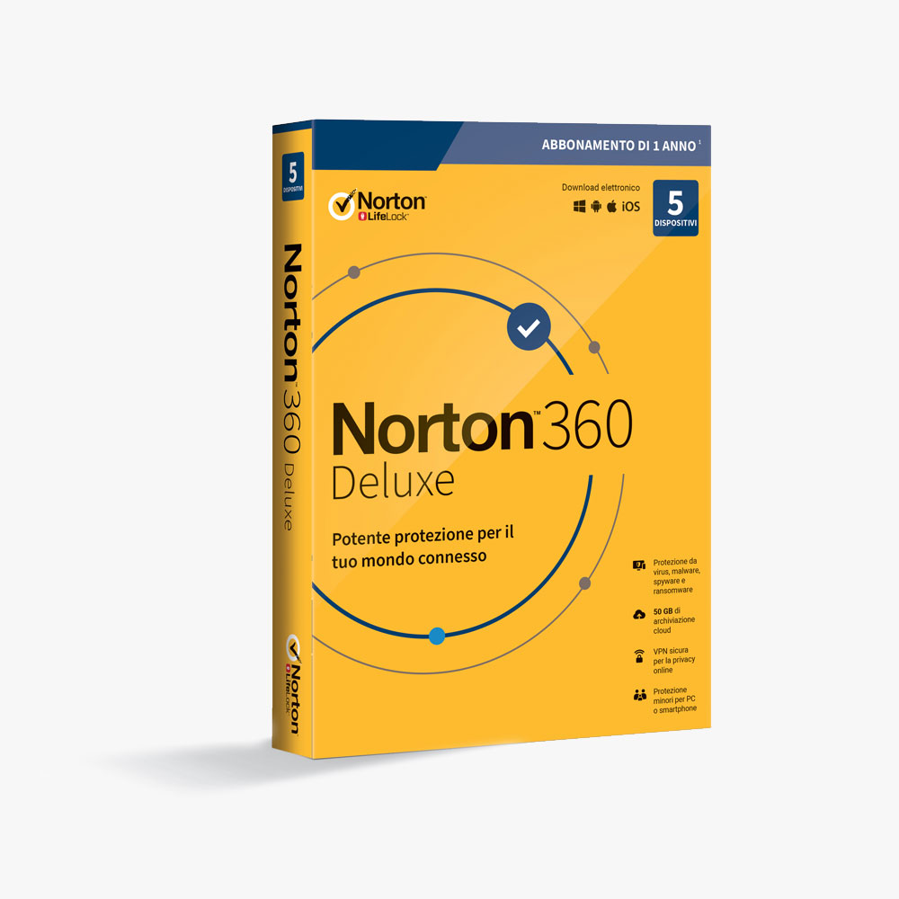 Norton 360 Deluxe – Antivirus Software for 5 Devices with Auto Renewal