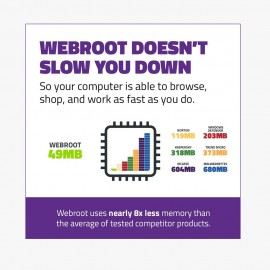 Webroot Internet Security Complete with Antivirus Protection Software | 5 Device | 2 Year Subscription |Mac