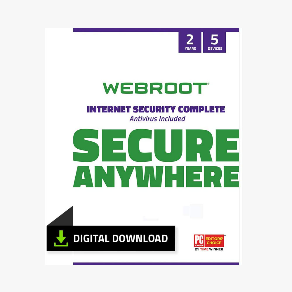 Webroot Internet Security Complete with Antivirus Protection Software | 5 Device | 1 Year Subscription |Windows